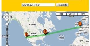 Localizar servidor web en mapa